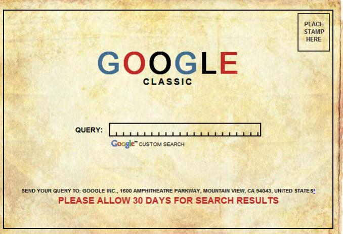 Google Classic - April Fools Day